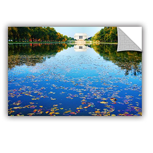 ArtWall Steve Ainsworth's Lincoln Memorial and Reflecting Pool I Art Appeelz Removable Graphic Wall Art, 32 x 48