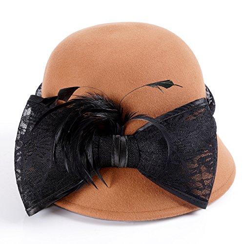 YMFIE Herbst Winter Dame Wolle Hut Elegant Casual Beret Hut Dekorative Kopfschmuck B07CK7DC55 Hüte Hat einen langen Ruf