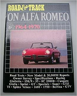 Book Alfa Romeo Road Test Book: Road & Track 1964-70 (Brooklands Road Tests)