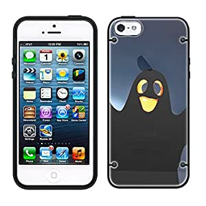 iPhone 6 Cute Halloweeneen Ghost See Through Case with Black Trim