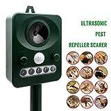 MASO Solar Power Ultrasonic Pest repellents Outdoor Animal Deterrent Repeller Protect Your Yard