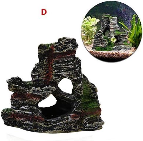 Mountain View Rockery Ornament Aquarium Hiding Cave Underwater Decorations