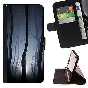 Momo Phone Case / Flip Funda de Cuero Case Cover - Luces Bosque Gris noche de miedo - Sony Xperia M4 Aqua