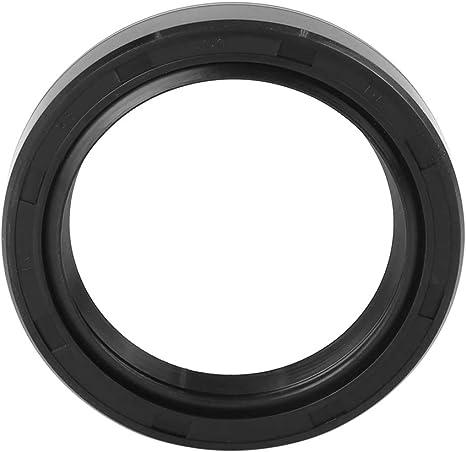 X AUTOHAUX 35mm x 72mm x 10mm Negra Cubierta Doble Labio TC Aceite Eje Sello para Coche