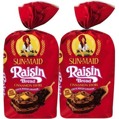 Sun Maid Cinnamon Swirl Raisin Bread - 16 oz.. - 2 pack