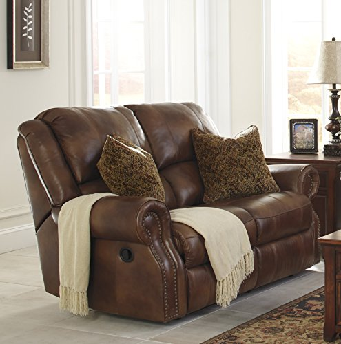 Walworth Traditional Leather Auburn Color Reclining Power