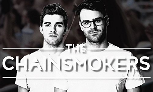 The Chainsmokers Black and White Poster