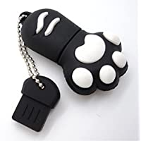 Cat paw flash drive,Cute Paw shape usb flash drive memory stick thumb driver 16GB 32GB 64GB usb 3.0/2.0 U disk - Black/Blue/White/Pink/Brown/Red (64GB)