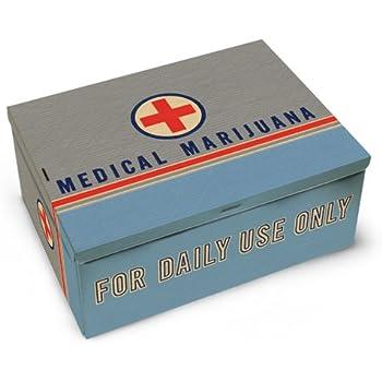 """Blue Q Medical Pot pocket tin stash box smoking stoner NEW 4/""""x3/"""""""