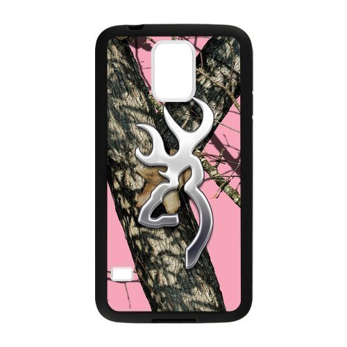Tree Camouflage Camo PINk Browning Custom Case Cover for Samsung Galaxy S5 (Laser Technology)