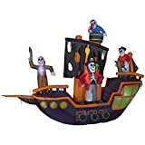 Gemmy Halloween Lighted Pirate Ship Inflatable Indoor/Outdoor Holiday Decoration