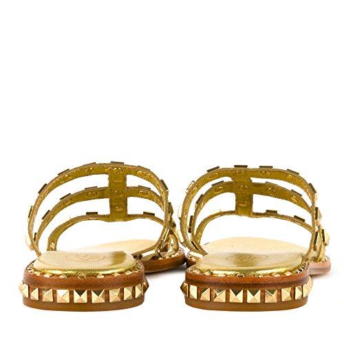 Pop pelle Scarpe in Sandali Calzature oro Ash Ariel Donna qx4wXEZ5