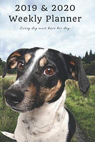 2019 & 2020 Weekly Planner Every dog must have his day.: Funny Jack Russell Terrier: Two Year Agenda Datebook: Plan Goals to Gain & Work to Maintain Daily & Monthly (6 x 9 in; 105 pages)