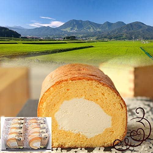 ロールケーキ ピース10個入 化粧箱入 米粉スイーツ 木島平米 グルテンフリー ギフト (プレーン・紅茶各5個)