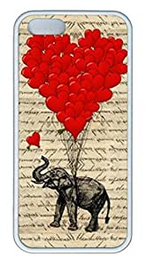 iPhone 6 Case, iCustomonline Elephant And Heart Shaped Balloons Case for iPhone 6