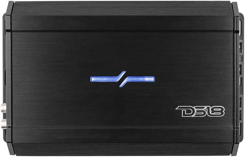 DS18 ZXI.1 Car Audio Bass Amplifier - Class D, Monoblock, 1 Channel, 2000 Watts Max, Adjustable Crossover, BASS Knob Included – Compact Size for Easy Installation on Many Applications