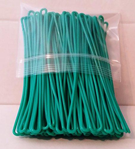 teal-green-plastic-luggage-tag-loops-6-inch-100-pk-aka-worm-loop