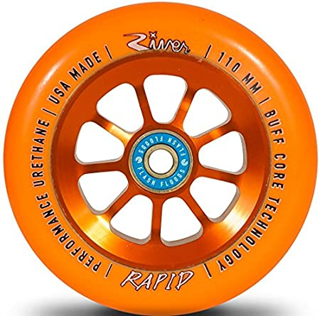 /Patinete River Wheel Stunt/ rollo 110/mm + flash Flood Rodamientos + Fan tic26/Pegatinas