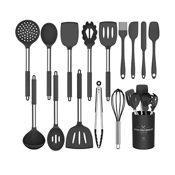 Silicone Cooking Utensil Set, Umite Chef 15pcs Silicone Cooking Kitchen Utensils Set, Non-stick Heat Resistant - Best… 1