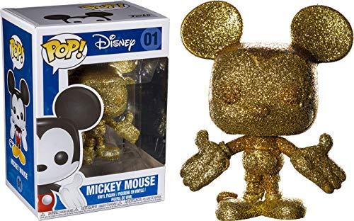 - Funko Pop Disney: Gold Diamond Glitter Mickey Mouse Collectible Figure, Multicolor