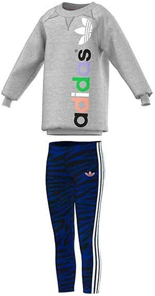 Adidas Originals Lk Set Girls Swearshirt Leggings M69087 Grey 18 24 Months Amazon Co Uk Clothing