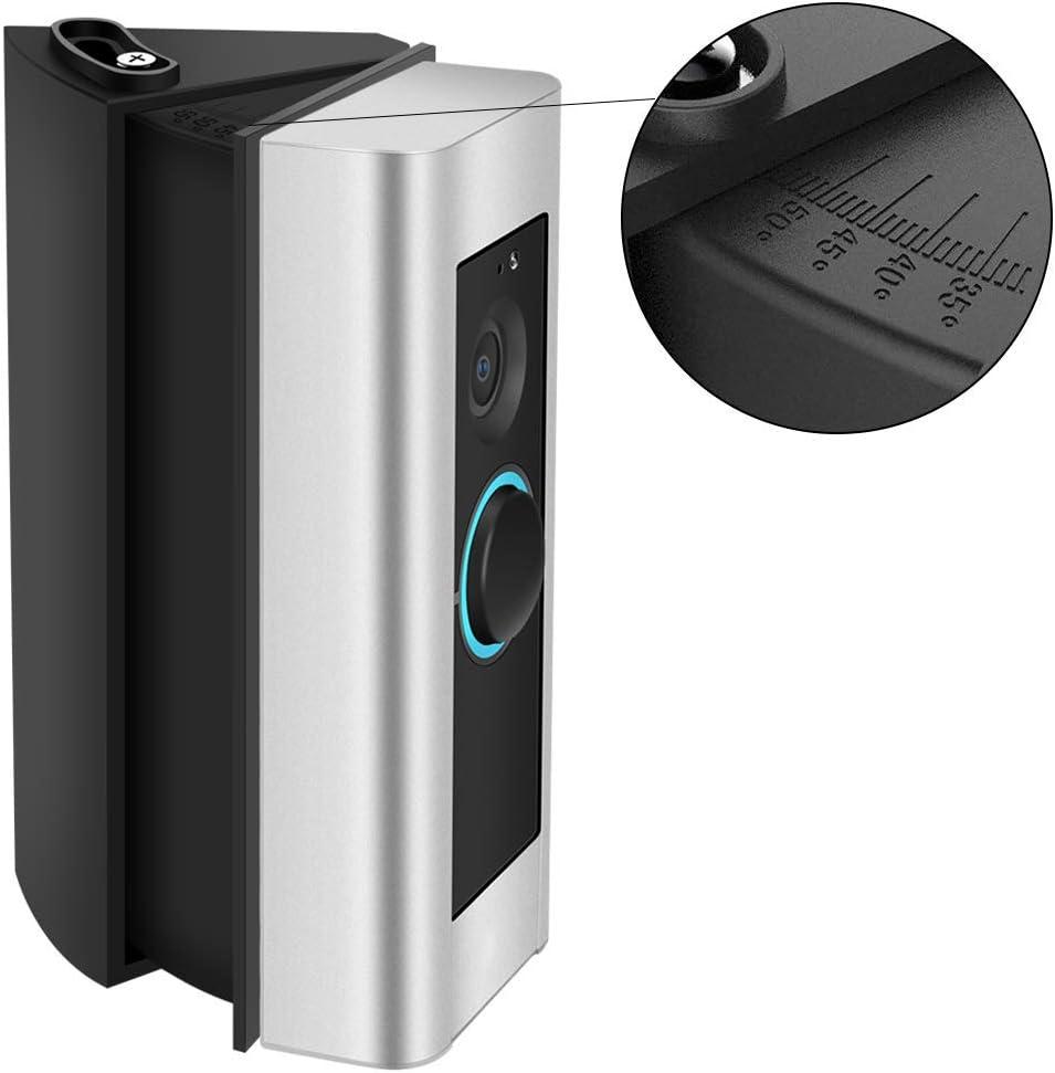 CAVN Ring Video Doorbell Pro de /ángulo ajustable Soporte 3ra gen 30 a 55 grados Adaptador de /ángulo Soporte de placa de montaje Kit de esquina de cu/ña para Ring Video Doorbell Pro Negro