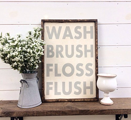 wash-brush-floss-flush-sign-bathroom-sign-bathroom-rules