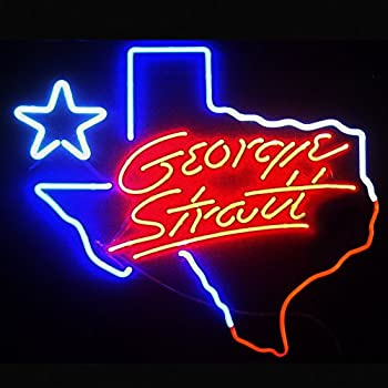 Coors Light George Strait Texas Neon Light Sign Real Glass