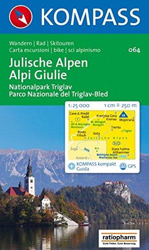 Julische Alpen / Alpi Giulie, Nationalpark Triglav / Parco Nazionale del Triglav-Bled: 1 : 25 000: Wandern, Rad, Skitouren. GPS-geeignet