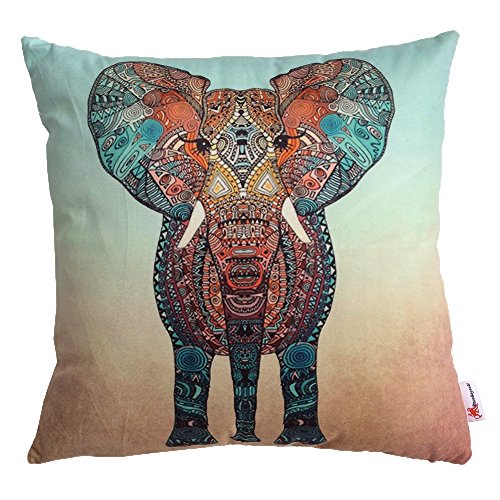 Monkeysell The new square Europe and the United States abstract Elephant patterns Digital printing pillowcase/pillow cover 18 x 18 inch (S029A2) (Bedroom Euro Headboard)