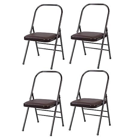 Amazon.com: TT&D Folding Chairs CJC Reinforced Yoga Chair ...