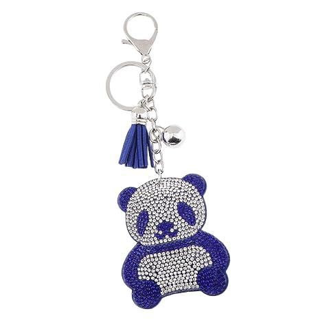 Baoblaze Diamante Llavero Panda Colgante Borla Encanto ...