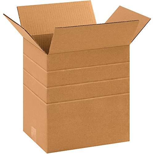 Partners Brand PMD11812 Multi-Depth Corrugated Boxes, 11 1/4