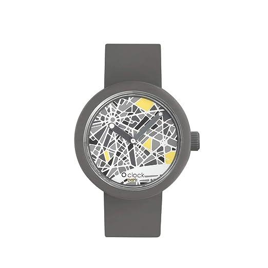 O clock correa gris oscuro + Mecanismo Mapa Paris XS gris oscuro: Amazon.es: Relojes