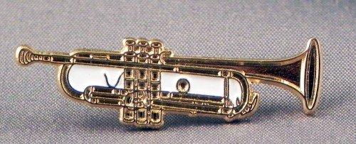 Mainly Metal Métal Émail Broche Musique Jazz Trompette Or Ton