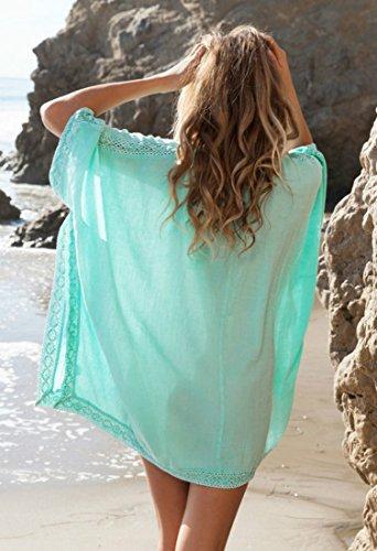 HALT Womens Oversized Beach Cover up Swimsuit Dress (Blue) by HALT (Image #3)