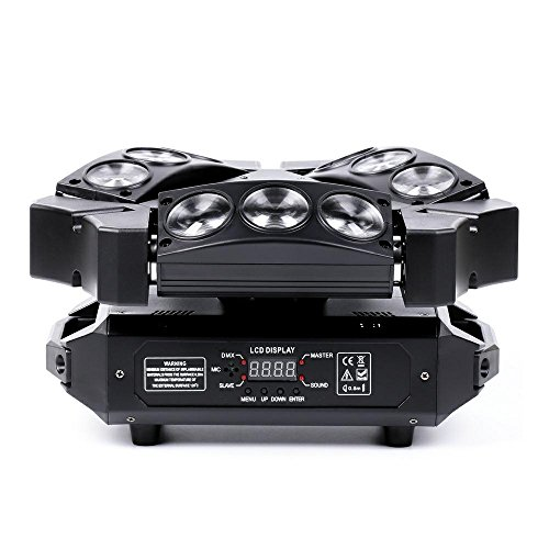 U`KING Moving Head Stage Light RGBW (4 in 1) DMX512 Rotating Stage Effect Lamp for DJ Disco Club Party Dance Wedding Bar Theater Pub Christmas Lights by U`KING