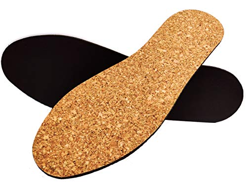 Natural Cork 3D Molding Comfort Orthotic for Flat Feet Pronation Active Thick Insoles with Foot Cushion Pad (US(M) 6~10.5)