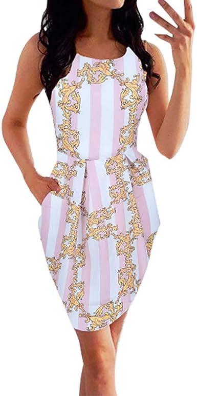 Darringls Vestido para Mujer, Vestido Largo Floral Print Casual ...