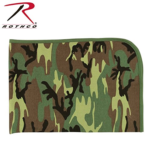 Woodland Camouflage Receiving Blanket - 1