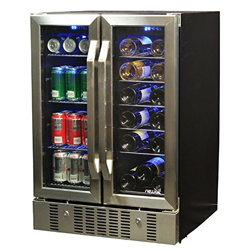 newair-awb-360db-18-bottle-60-can-dual-zone-built-in-wine-beverage-cooler-stainless-steel-black