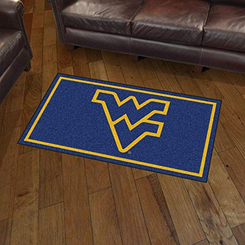 (NCAA West Virginia Mountaineers 3 Ft. x 5 Ft. Area RUG3 Ft. x 5 Ft. Area Rug, Blue, 3' x 5')