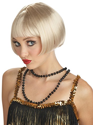 California Costumes Women's Flirty Flapper Wig, Blonde, One Size
