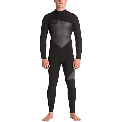 Quiksilver 5 4 3mm Syncro Series Back Zip GBS Men s Full Wetsuits - Black 5db755b244d
