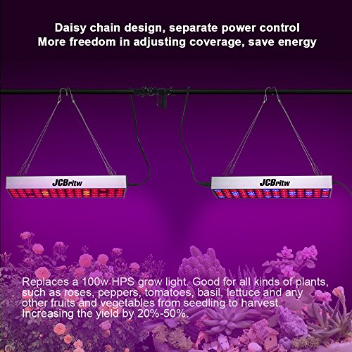 JCBritw LED Grow Light Panel Full Spectrum with Veg Bloom Dual Switch 30W Plus Plants Growing Lamps Aluminum Made with Daisy Chain for Indoor Plants Hydroponic Greenhouse Veg and Flower by JCBritw (Image #6)