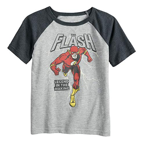 Jumping Beans Little Boys' 4-12 Running Flash Tee 7 Grey/Charcoal -
