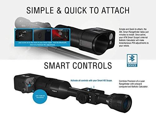 51ZBPrs7erL - ATN Laser Ballistics 1500 Smart Laser Rangefinder w/Bluetooth, device works with Mil and MOA scopes using Ballistic Calculator App