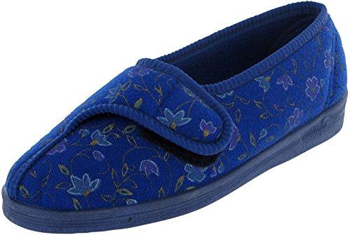 Comfylux Diana Womens Slippers Blue