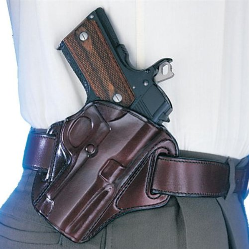 Galco Concealable Belt Holster for 1911 4-Inch, 4 1/4-Inch Colt, Kimber, para, Springfield, Smith (Havana, Right-Hand)