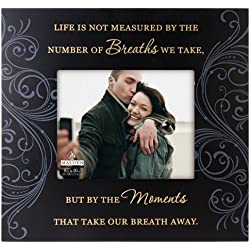 Malden International Designs Moments Life Is Not Measured Wood Picture Frame, 8x10, Black